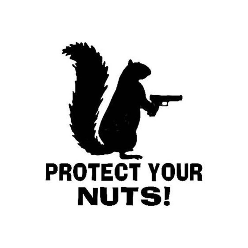 Protect Your Nuts Warning Sticker