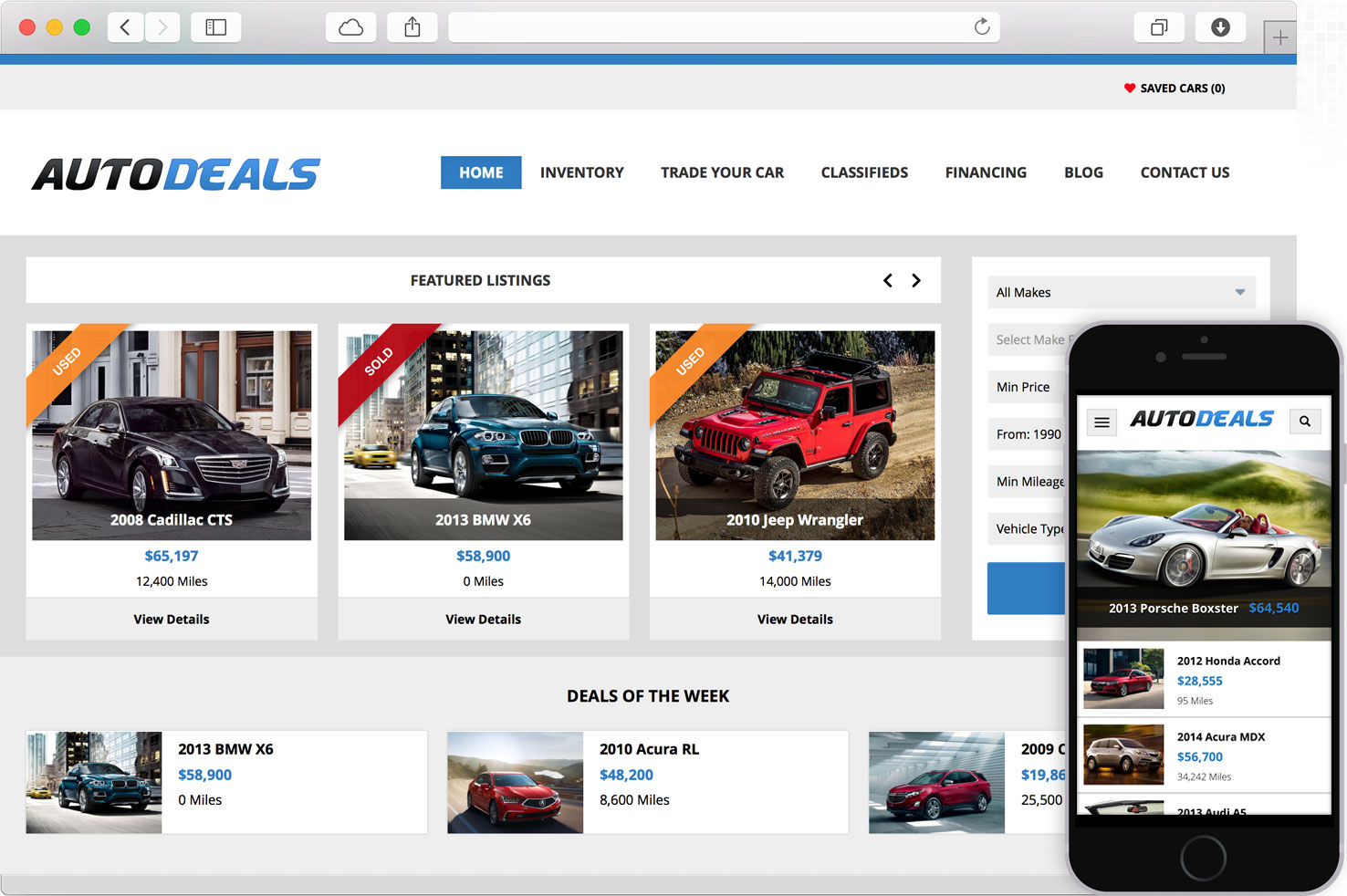 WordPress Auto Deals Theme