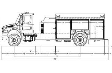 KME Top Mount Commercial Pumper Fire Truck For Sale
