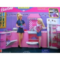 Barbie Kitchen Playset Task Lighting For Folding Pretty House 1996 Arcotoys Mattel