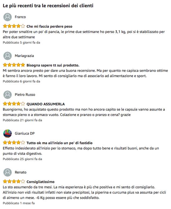 piperina e curcuma recensioni ed opinioni di chi ha acquistato