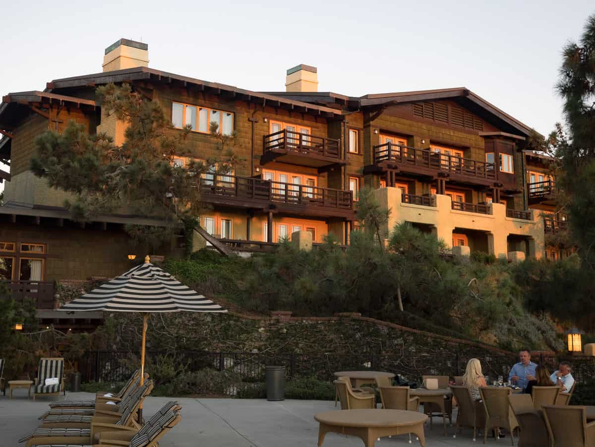hanging outdoor chairs mens chair valet stand the lodge at torrey pines - go san diego