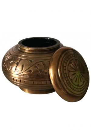 Quality Enchanted Vines Round Keepsake Urn For Cremation Ashes