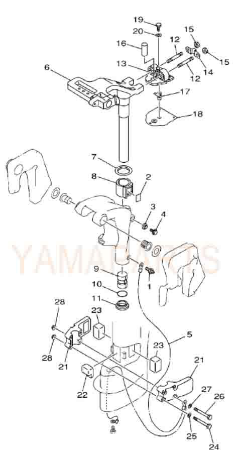 YAMAHA 2 STROKE 15HP SPARE PARTS BRACKET 2