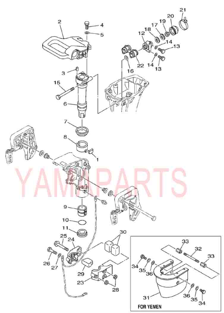 YAMAHA 2 STROKE 15HP E15D OUTBOARD MOTOR SPARE PARTS