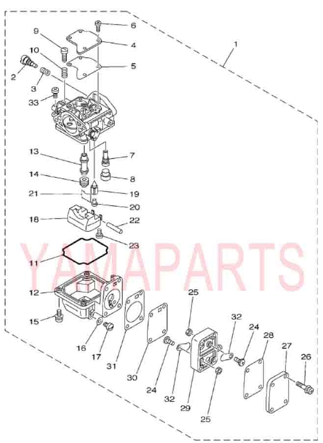 YAMAHA 2 STROKE 15HP E15D OUTBOARD MOTOR SPARE PARTS