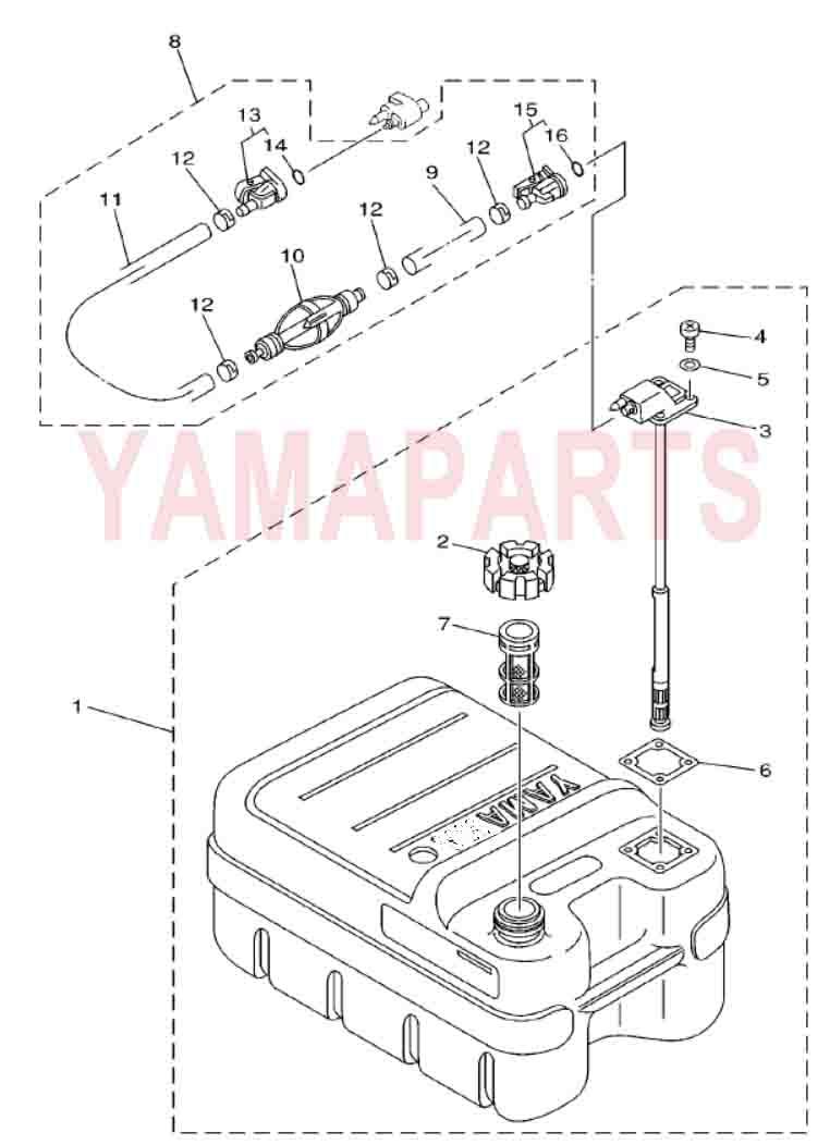 YAMAHA 2 STROKE 25HP 30HP OUTBOARD MOTOR SPARE PARTS