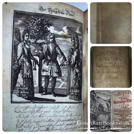 Abraham à Sancta Clara (Johann Carl Megerle) – Centi-folium stultorum in quarto