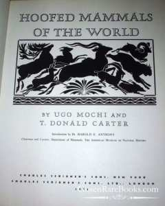 Mochi, Ugo, and Carter, T. Donald, Hoofed Mammals of the World