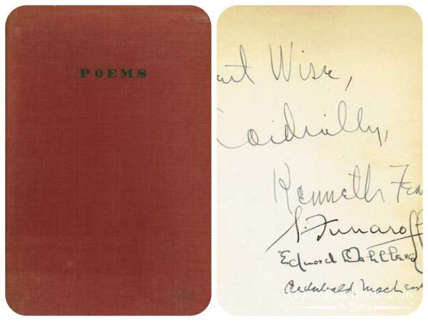 Poems by Kenneth Fearing - First Edition - Signed and Inscribed