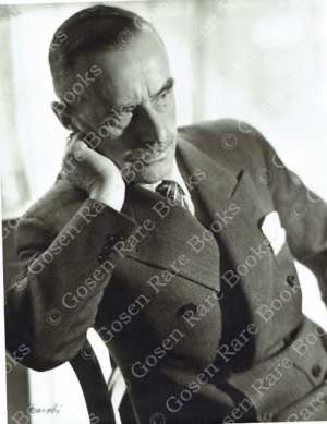 "Lotte Jacobi's ""Thomas Mann, Writer Princeton NJ"" 1936"