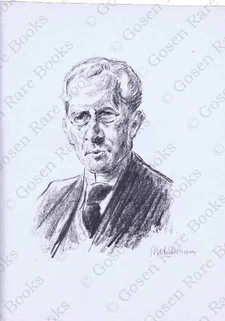 Max Liebermann Lithograph of Arno Holtz Signed 1922