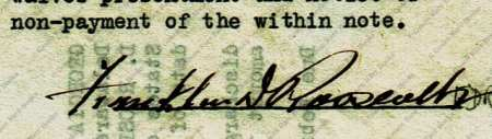 Promissory Note for the Georgia Warm Springs Foundation | Signed by Franklin D Roosevelt
