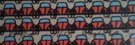 POP ART VW Rot | Red VW | Screenprint by Thomas Bayrle 1969