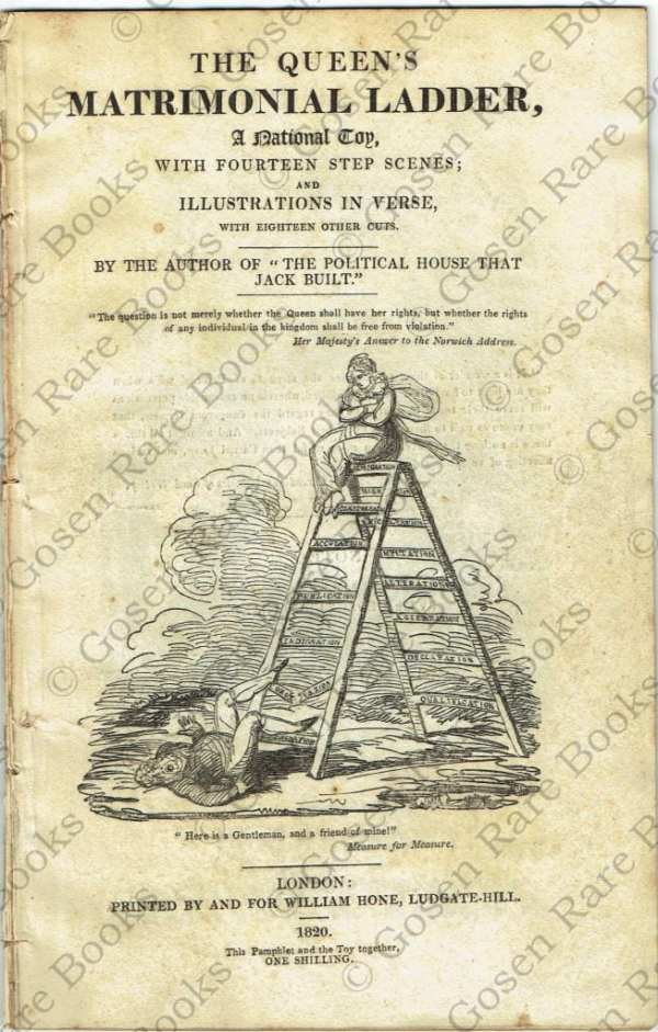 George Cruikshank | The Queen's Matrimonial Ladder 1820