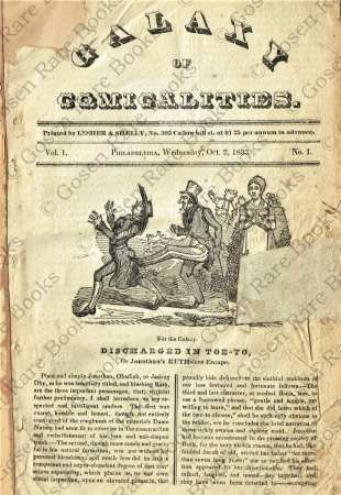 "12 Issues of the Jacksonian Era ""of Comicalities"" 1833"