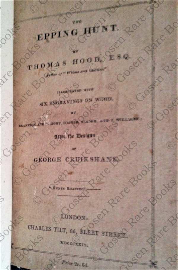 Cruikshank | The Epping Hunt by Thomas Hood, Esq | 1829