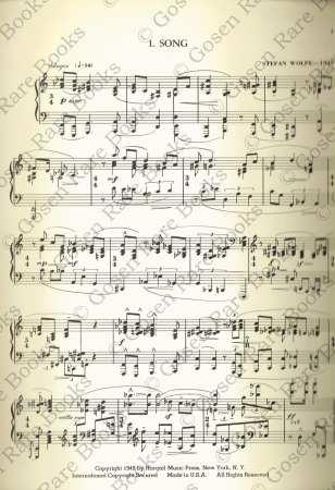 Stefan Wolpe: Zemach Suite for Piano Solo | Written for Dancer Benjamin Zemach 1949
