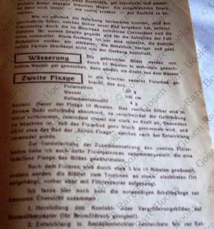 Bromöldruck und Bromöl-Umdruck Friedrich Fischer Wien
