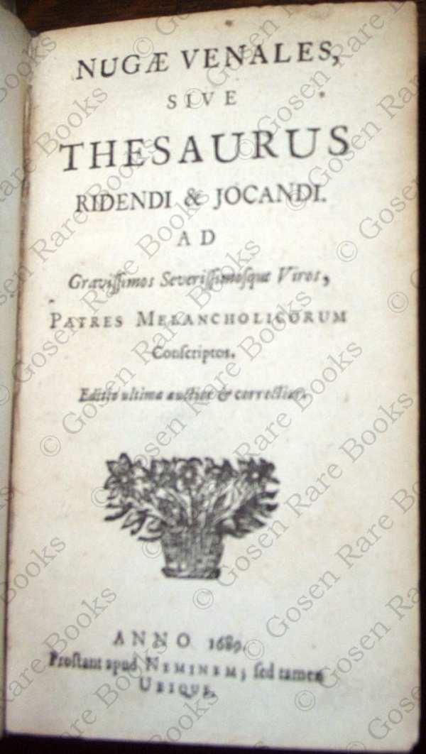 Nugae Venales sive Thesaurus Ridendi & Jocandi