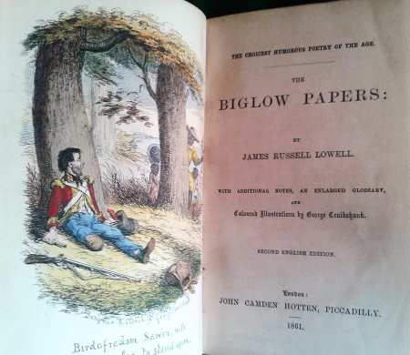 Frontispiece of a wounded soldier and the title page.