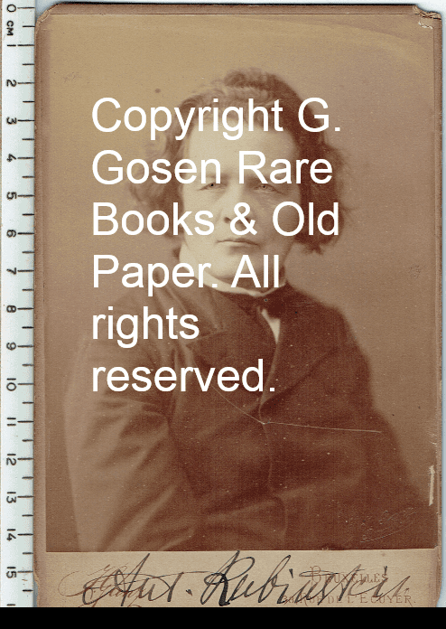 Signed Photograph of Anton Rubinstein | G  Gosen Rare Books & Old Paper