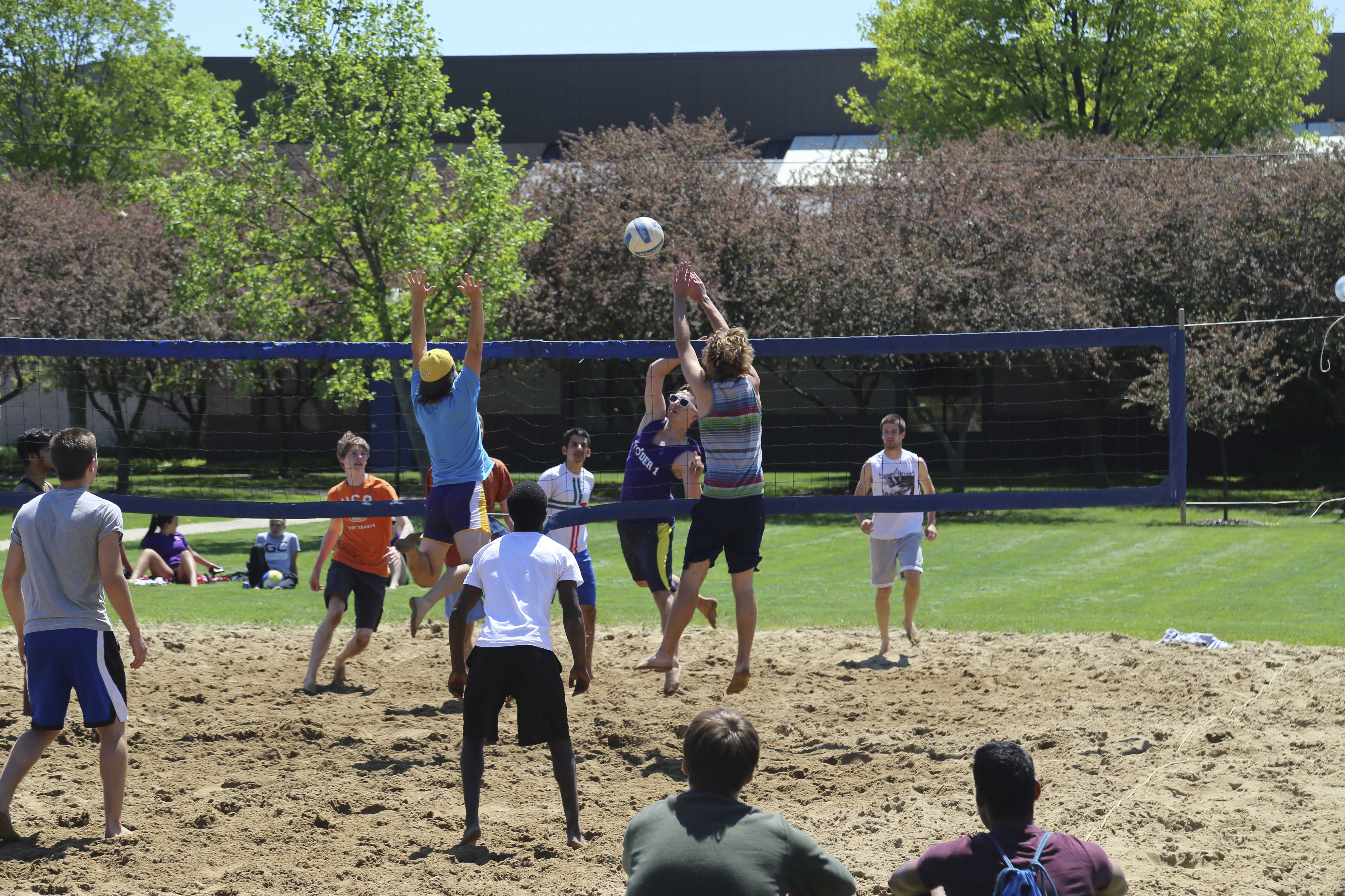 Fall Leave Wallpaper Student Life Sand Volleyball Tournament And Picnic