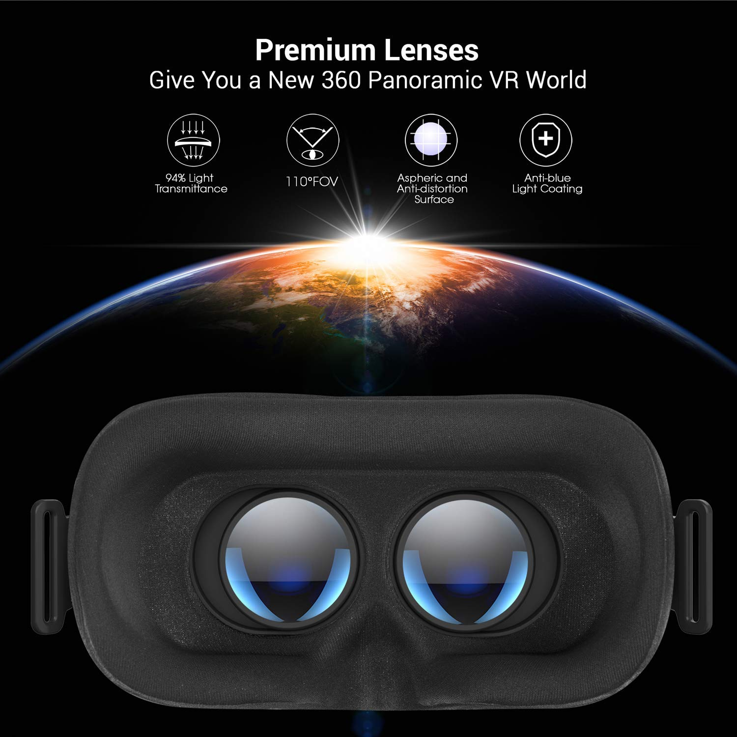 Destek V5 Vr Headset Phones W 5 0 6 5in Screen Samsung S9 S8 S7 S6 Plus Edge Note 9 8 Eye Protected Hd Virtual Reality Headset W Touch Button For Iphone 11 11 Pro Xs Xr Xs Max X Plus 110 Fov