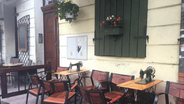 Singer cafe Kazimierz