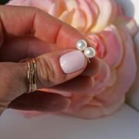 Round Freshwater Pearls Studs  Gosia Meyer Jewelry