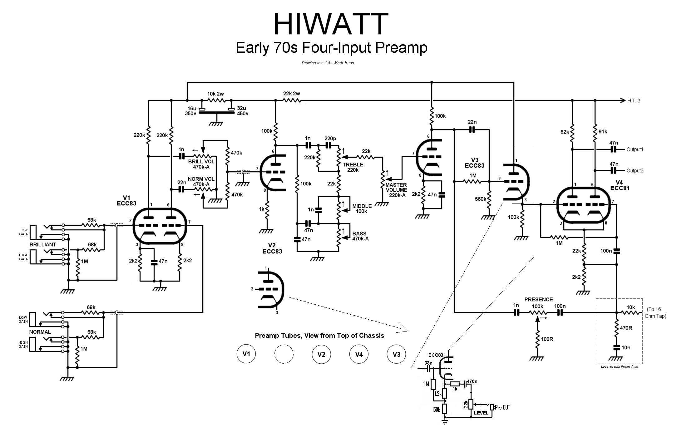 p bass schematic