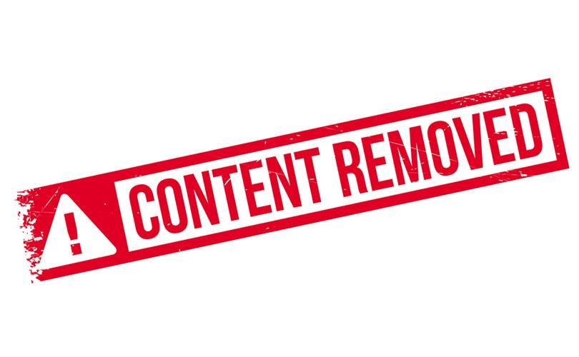 Content Removal - GospelEmpireGh