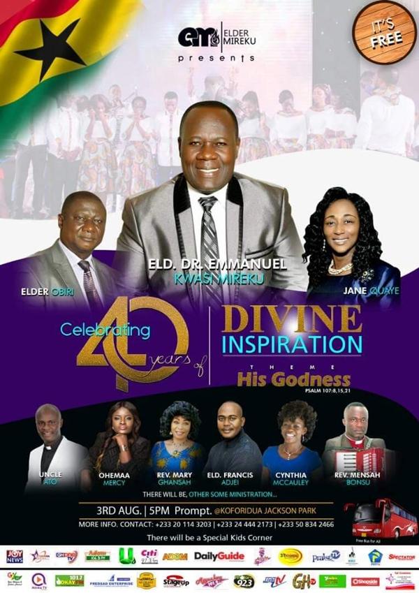 Elder Mireku To Celebrate 40th Anniversary
