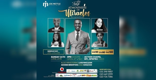 Joe Mettle Praize Reloaded concert