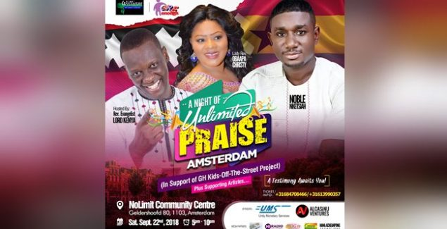 EUROPE TOUR LORD KENYA NOBLE NKETSIAH AND OBAAPA CHRISTY STORM EUROPE WITH A NIGHT OF UNLIMITED PRAISE