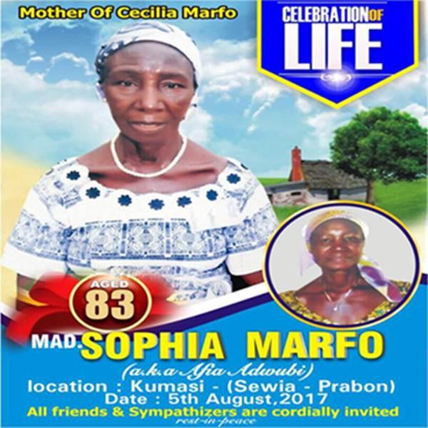 Cecilia Marfo Personality Profile