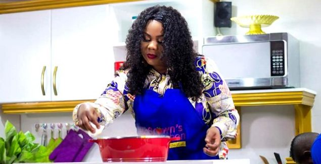 Empress Gifty Osei is a Pro in the Kitchen