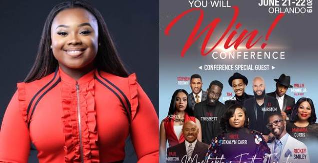 "Jekalyn Carr Announces Guests for 2nd Annual ""You Will Win"" Conference"