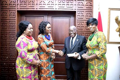 Daughters of Glorious Jesus Meets the President of Ghana