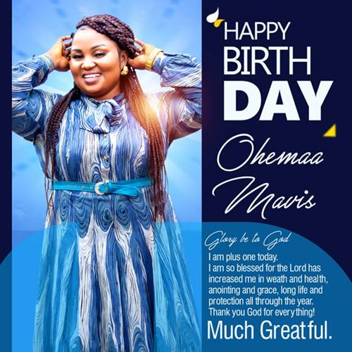 Thriving Gospel Minstrel Ohemaa Mavis Releases Astounding Birthday Photos