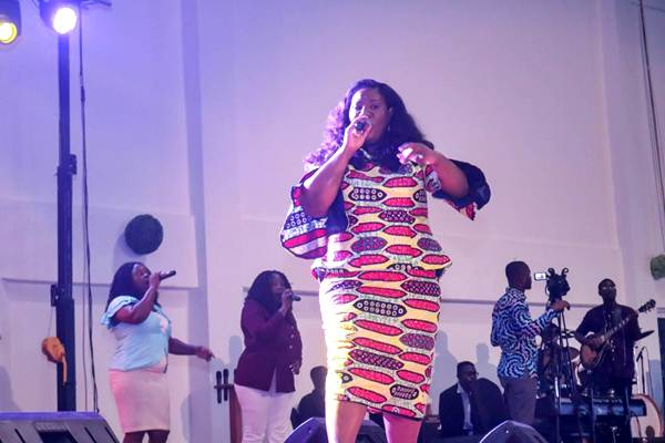 Ella Duncan-Williams King Delivers Rip-roaring Ministration at Revival City