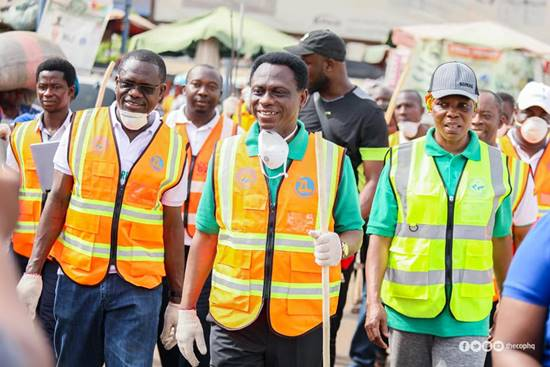 The Church of Pentecost, Achimota Area Embarks on Clean Up Exercise