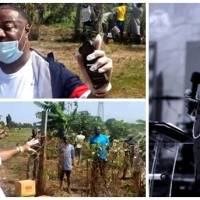 Archbishop Nicholas Duncan-Williams Feeds Farmers at Adjiringanor