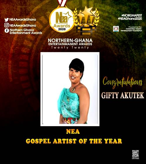 Gifty Akutek Grabs 'Gospel Artist Of The Year' At NEA 2020