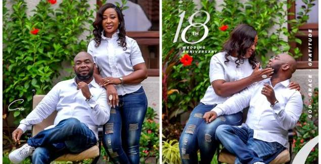 Rev Azigiza Jnr, Wife Mark 18th Marriage Anniversary With Adorable Family Portrait (PHOTOS)