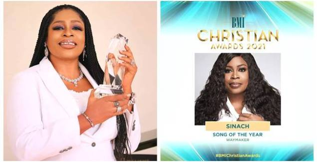 """""""Way Maker"""" song by Sinach Grabs 'Song of the Year' award at BMI2021 (Video)"""