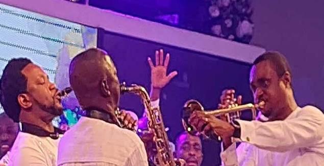 Nathaniel Bassey ft Sinach, Dunsin Oyekan and Nigeria Gospel All Stars performing Imela Medley Music Video.