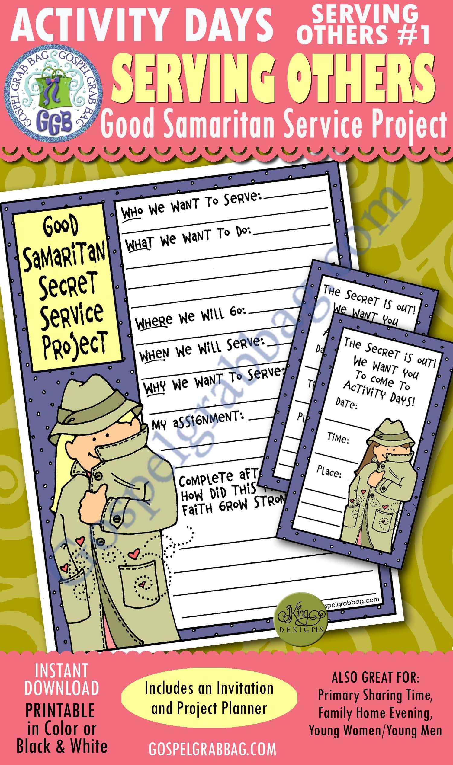 Service Love Lds Lesson Activity