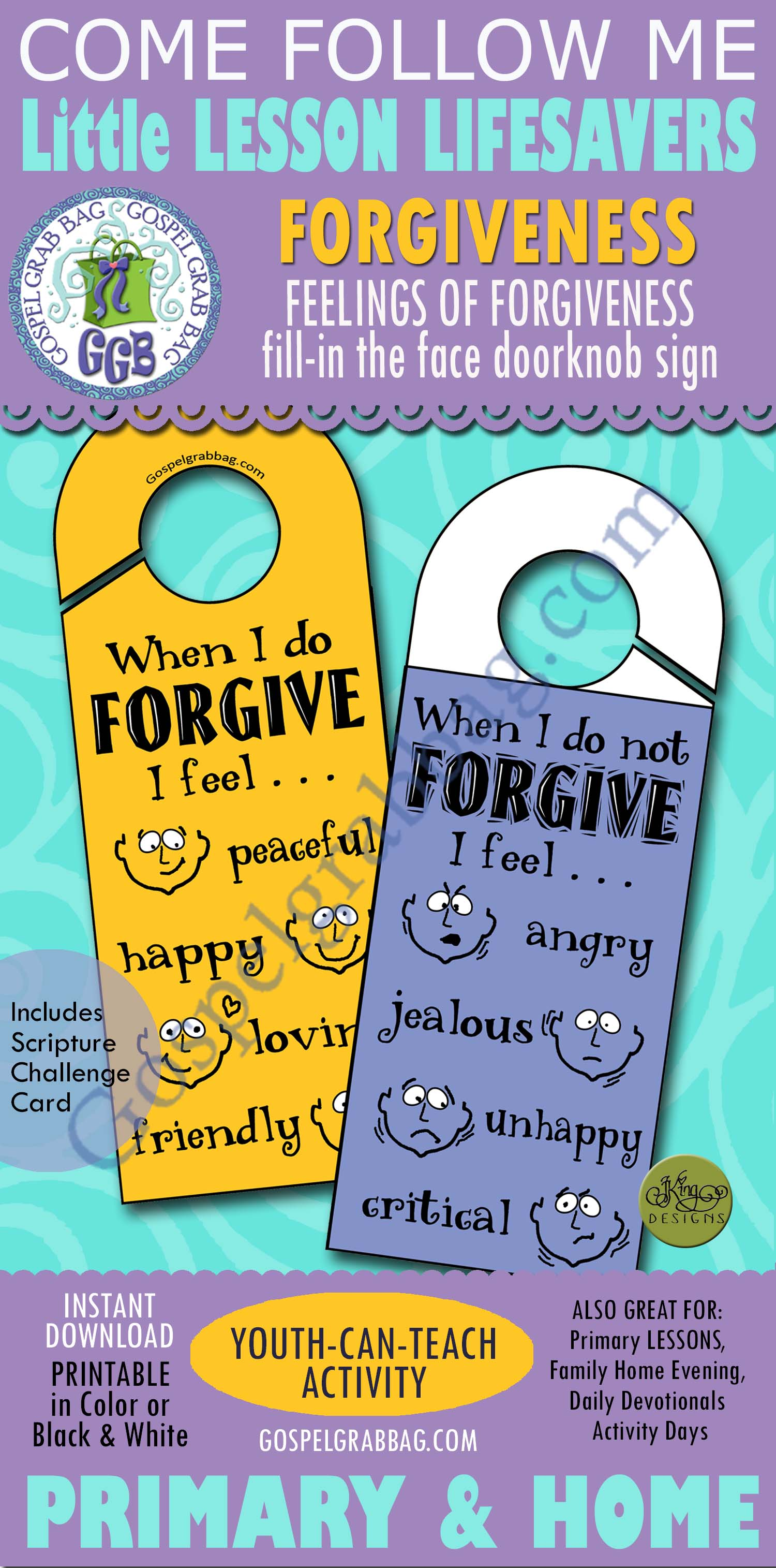 Forgiveness Activity Feelings When I Do And Do Not