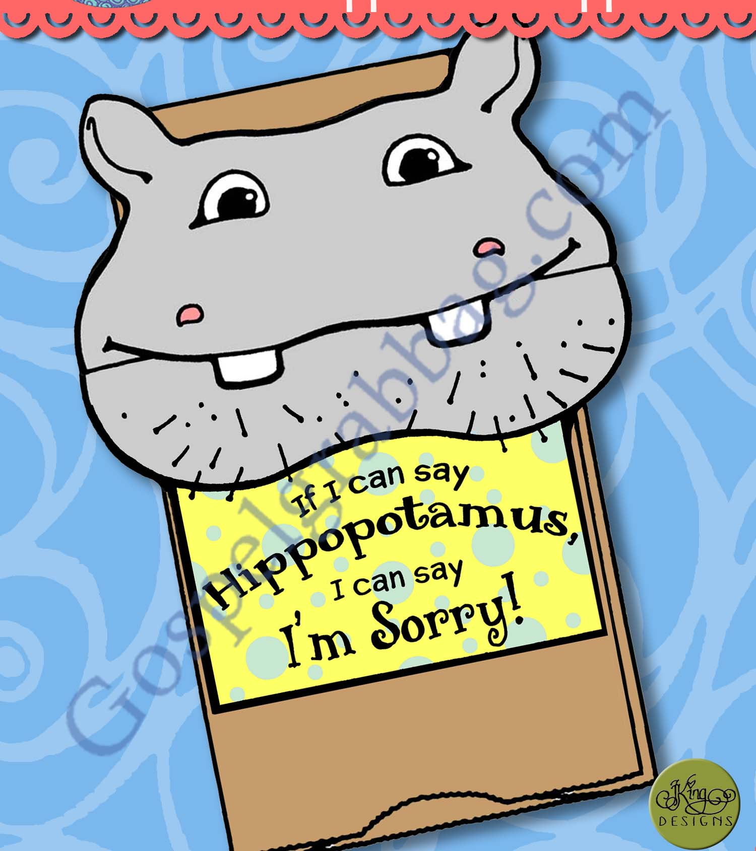 Repentance Activity If I Can Say Hippopotamus I Can Say I M Sorry Sack Puppet Nursery